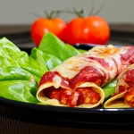 Mexican style enchiladas dish